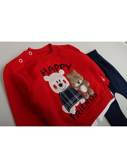Compleu Happy bears model rosu
