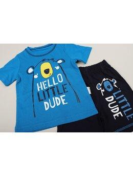 Compleu Hello little dude albastru