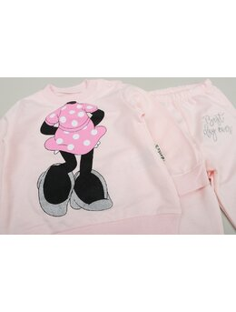 Compleu Minnie Mouse 2 piese model coral deschis