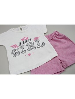 Compleu super girl roz