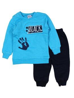 Compleu vatuit Black model bleu