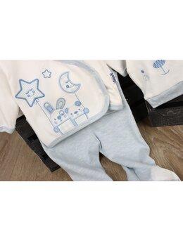 Costumas 5 piese la cutie model stea-luna bleu