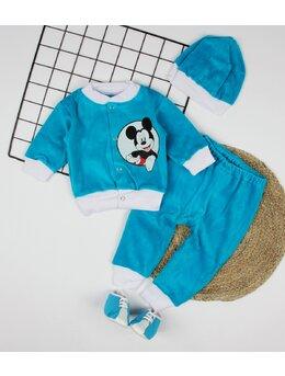 Costumas catifea 3 piese Mickey
