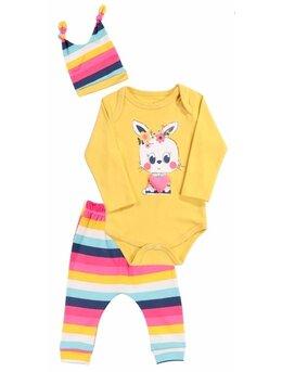 Costumas multicolor galben