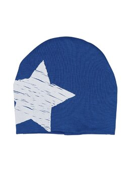 Fes bumbac steluta imprimata model albastru