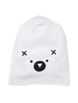 Fes cu cap de ursulet model alb