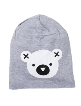 Fes cu cap de ursulet model gri