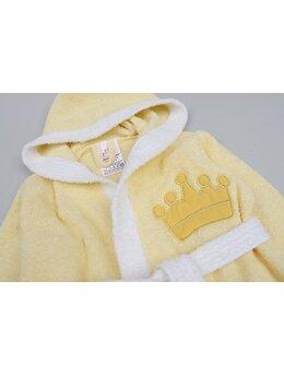 Halat de baie coroniță model galben
