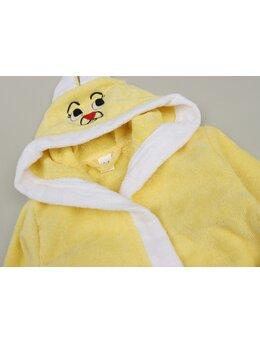 Halat de baie iepuraș model galben