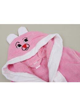 Halat de baie iepuraș model roz