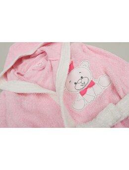 Halat de baie ursuleț model roz