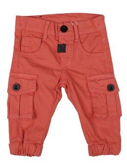 Pantaloni cargo caramiziu