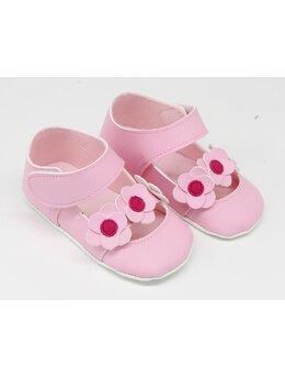 Pantofiori eleganti fetite cu floricele model roz