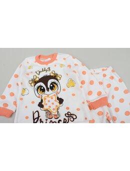 Pijama bufnita portocaliu