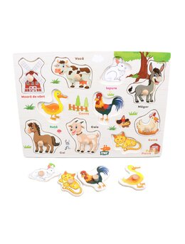 Puzzle din lemn cu animale domestice