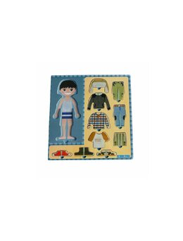 Puzzle din lemn Imbraca baietelul, montessori
