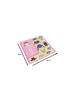 Puzzle din lemn, Imbraca Fetita, Montessori