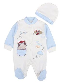 Salopeta baby aviator bleu