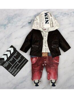 Salopeta Fashion cu gecuta model grena