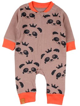 Salopeta panda maro-portocaliu