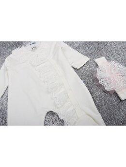 Salopeta premium Rihana model alb