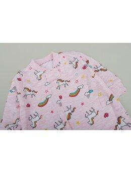 Salopeta unicorn-curcubeu roz