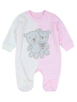 Salopetica baby ursulet model roz