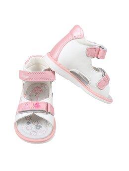 Sandale brodate fluturasi model roz