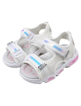 Sandale copii fashion cu LED model alb-roz