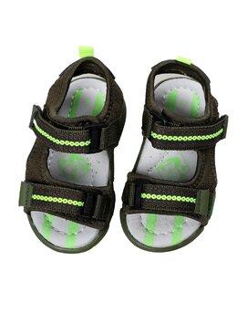 Sandale copii sport cu LED model kaki