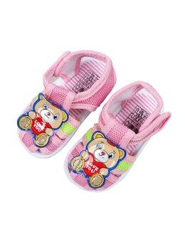 Sandale cu ursulet love you model roz