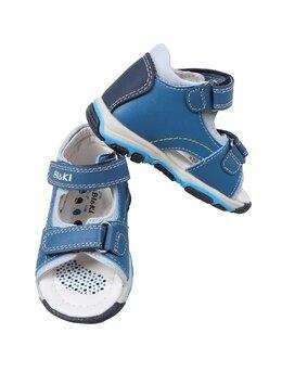 Sandale de piele Francisc albastru