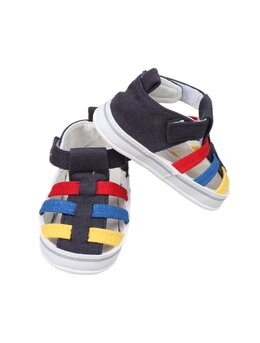 Sandale Funny multicolor bleumarin inchis