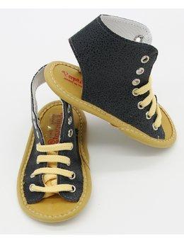 Sandale negre cu picatele