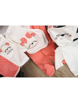 Set 10 piese baby girl coral aprins