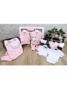Set 10 piese baby iepuras roz