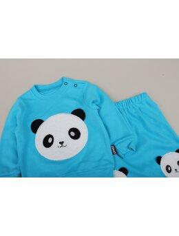 Set 2 piese panda turcoaz