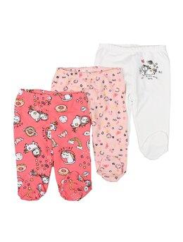 Set 3 pantalonasi fetite unicorni
