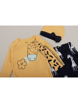 Set 3 piese girafa galben