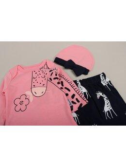 Set 3 piese girafa roz