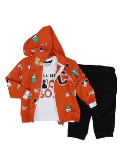 Set 3 piese portocaliu school