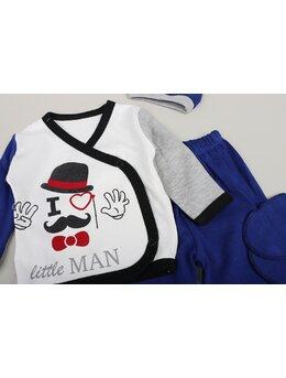 Set 5 piese little man albastru