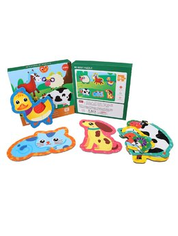 Set 6 puzzle piese mari animale domestice 28 piese