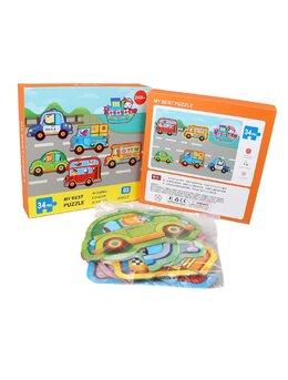 Set 6 puzzle piese mari vehicule 34 piese