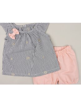 Set Baby girl stelute model coral