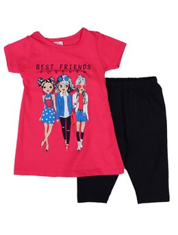Set best friends ciclam-negru