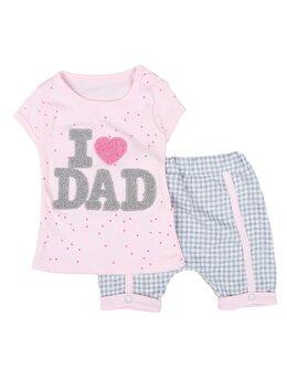 Set I love DAD 2 piese roz