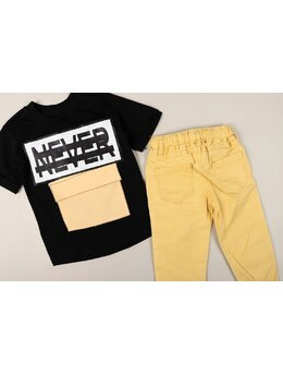 Set Never model negru-galben