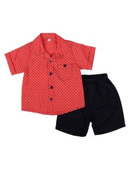 Set Rafael roșu pal-negru