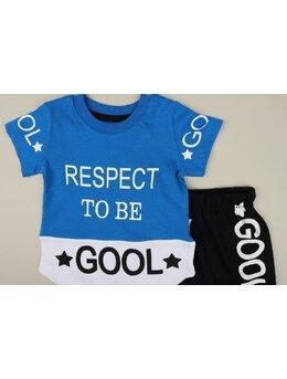 Set RESPECT TO BE GOOL albastru